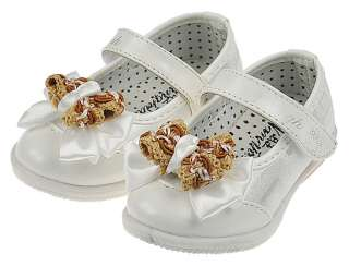 Kids baby girls white leather walking shoes toddler sandals shine 5.63