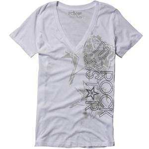 Fox Racing Womens Rockstar Showbox V Neck T Shirt   Large
