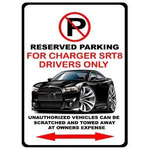 2012 13 Dodge Charger SRT8 Muscle Car toon No Parking Sign