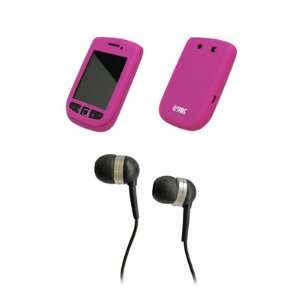 EMPIRE Hot Pink Silicone Skin Cover Case + Stereo Hands