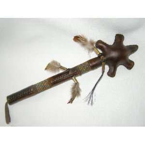 Native American Rattle   Rawhide Turtle Rattle 13 Toys & Games