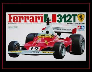 Tamiya 1/12 Ferrari 312T F1 Lauda Regazzoni Race Car Kit 12019 MIB