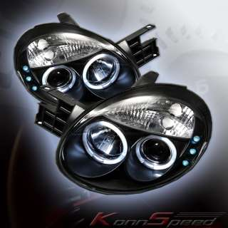 DODGE NEON 03 05 SRT4 HALO LED PROJECTOR HEADLIGHTS 04