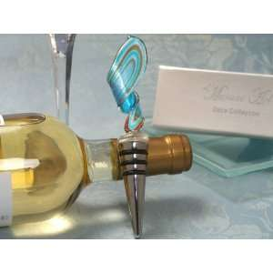 Wedding Favors Murano art deco collection blue and gold Swirl design