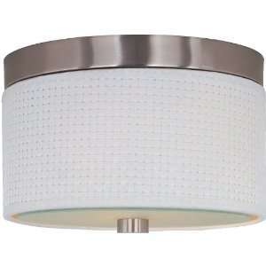 Elements Collection 2 Light 10 Satin Nickel Flush Mount E95000 100SN