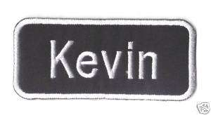 Name Tag Kevin Logo EMBROIDERED Iron Patch T Shirt Sew