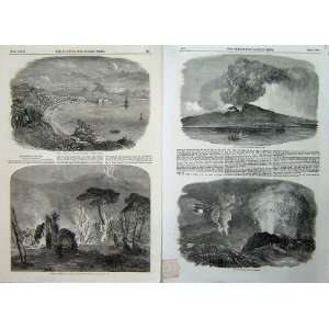 1852 Mount Etna Volcano Eruption Crater Vesuvius Lava