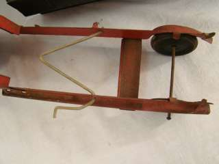 Antique PRESSED STEEL Construction TOY Old Metal DUMP TRUCK