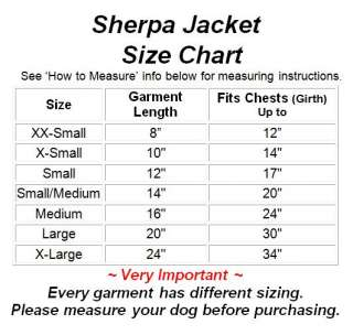 SHERPA JACKET Faux Suede Fleece Dog Blanket Coat New
