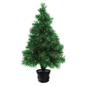 32 Inch Lighted Indoor Fiber Optic Christmas Tree with