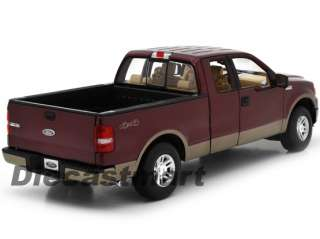 2006 FORD F 150 LARIAT NEW DIECAST MODEL PICKUP TRUCK 2TONE BURGUNDY
