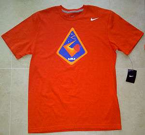 NWT Nike Men Lebron Orbit Galaxy 9 Orange Big Bang All Star Shirt Kobe