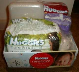 NEW Huggies Newborn Gift Set Baby Diapers Wipes Changing Pads + Toy in