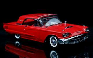 1960 Ford Thunderbird Diecast 124 Scale   Red w / FREE DISPLAY