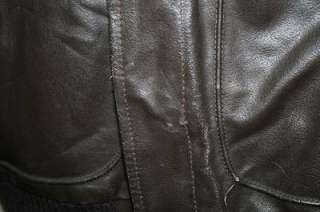 MENS OAKTON TYPE A2 LEATHER FLIGHT/BOMBER JACKET sz 42