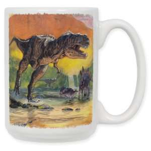 Dino Volcano 15 Oz. Ceramic Coffee Mug
