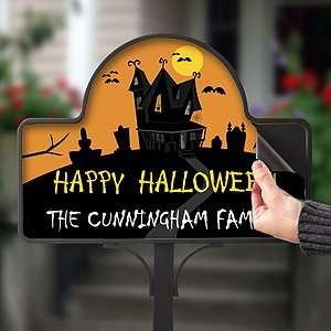 Personalized Halloween Haunted House Yard Stake Magnets