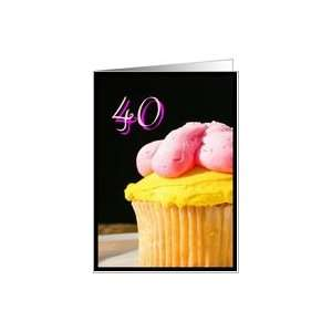 Happy 40th Birthday muffin Card Toys & Games