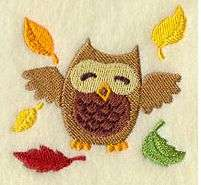 124 Personalized Embroidered Hooting Owl
