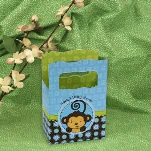 Monkey Boy   Mini Personalized Baby Shower Favor Boxes