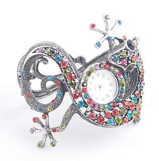 Rhinestone Crystal Animal lizard Bracelet Watch B031_6
