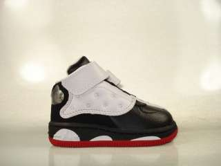 Air Jordan Fusion 13 White Black Red 375474 101 Toddler