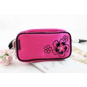 New Adorable Daisy Love Hot Pink Double Zipper Cosmetic