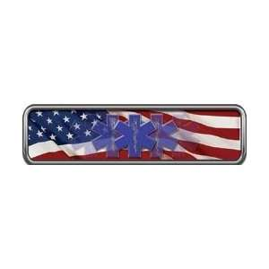 Reflective American Flag EMS Helmet Marker 1 h by 4 w
