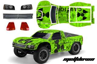 RC GRAPHICS SKIN DECAL KIT SHORT COURSE SCTE TEN 4WD LOSI BODY MLT G