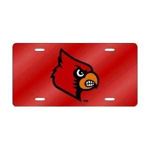 Louisville Cardinals Red Laser Cut License Plate Sports