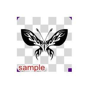 TRIBAL TRIBAL BUTTERFLY 31 10 WHITE VINYL DECAL STICKER