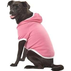 Pup Crew Bubble Gum Pink Bone Fleece Dog Hoodie, XX