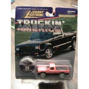 johnny lightning truckin America 1991 GMC Cyclone Red Collector Truck