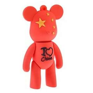 1GB Red Momo Bear USB Flash Drive Flash Memory U Disk   I