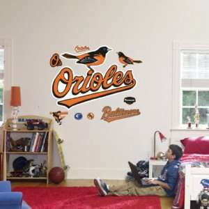Baltimore Orioles Logo MLB Fathead Logos Wall Graphics