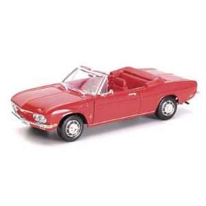 1969 Chevy Corvair Monza Convertible 1/18 Red Toys