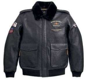DAVIDSON® MENS A 2 LEATHER MILITARY BOMBER JACKET 97078 11VM MENS