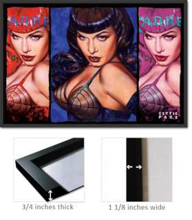 Framed Bettie Page Poster Pinup Colors Olivia Frpp32182