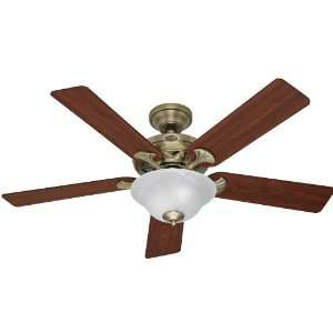 Hunter Fan 22455 Core Ceiling Fans 52 Inch Antique Brass with 5 Walnut
