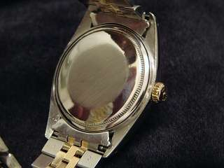 Mens Rolex Two Tone 14k Yellow Gold/SS Datejust Date Watch w/Blue