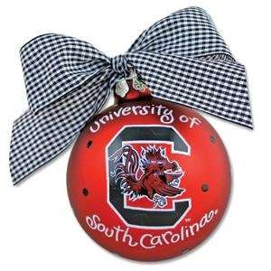 South Carolina Gamecocks Garnet Team Logo Christmas Ornament Sports