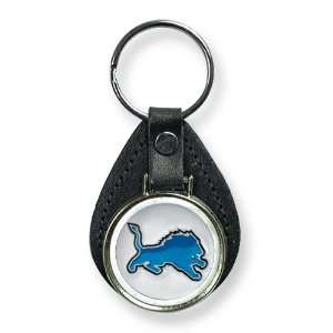 Detroit Lions Leather Key Ring Jewelry