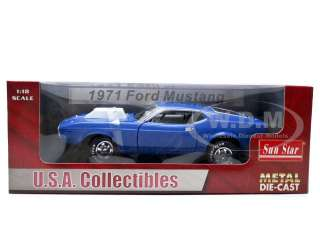 scale diecast car model of 1971 Ford Mustang 427 Pro Stock by Sunstar