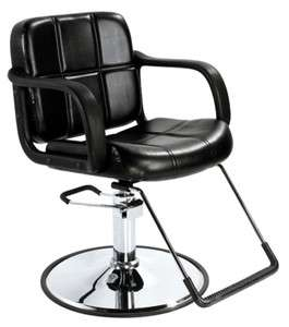 HQ Hydraulic Styling Salon Barber Chair Black Equipment