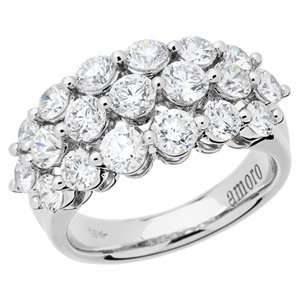2.55 Carat 18kt White Gold Diamond Ring Jewelry