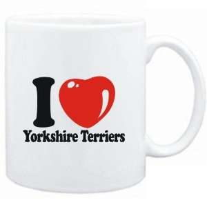 Mug White  I LOVE Yorkshire Terriers  Dogs Sports