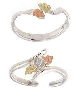 14 kt. Gold & Silver Adjustable Toe Rings (Set of 2)