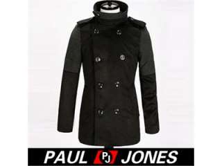 Luxury Fashion Mens Slim Double Breasted Winter Warmer Trench Overcoat
