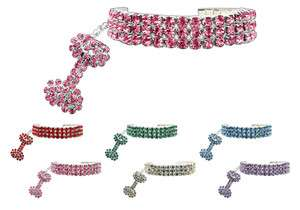 Glamour Bits Crystal Pet Dog or Cat Collar Jewelry   Available in 5