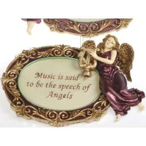 Kurt Adler Angel Ornaments with Sayings About Music